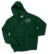 Hanes® Youth Comfortblend®Full-Zip Hooded Sweatshirt-Deep Forest