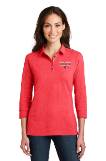 Port Authority® Ladies 3/4-Sleeve Meridian Cotton Blend Polo