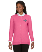KVHRA-Devon & Jones Ladies' Perfect Fit™ Ribbon Cardigan