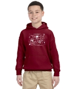 Virtual Logo Gildan® - Youth Heavy Blend™ Hooded Sweatshirt
